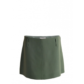 Khaki olive green A-line mini skirt Retail price €500 Size 36