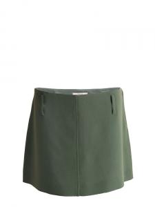 Mini jupe trapèze vert kaki olive Px boutique 500€ Taille 36