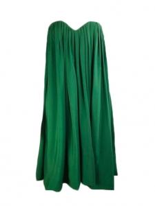 Robe bustier en soie plissée vert émeraude Prix boutique 2000€ Taille 40