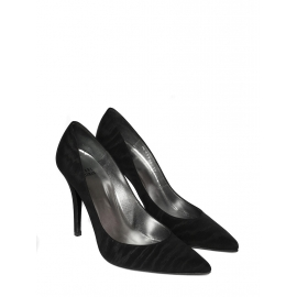 Black fabric high heel pumps NEW in box Size 37