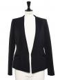 STELLA MCCARTNEY Black crepe cinched blazer jacket Retail price €900 SIze 38