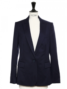 STELLA MCCARTNEY INGRID Classic navy blue twill blazer jacket Retail price $1095 Size M