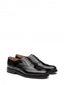 Chaussures plates Richelieu Oxford en cuir poli noir Px boutique 590€ Taille 37