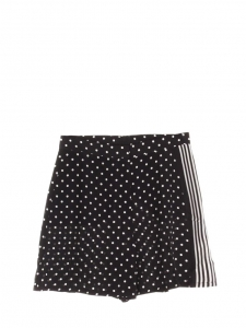 Black and white polka dot printed silk long shorts Prix boutique €450 Size 40