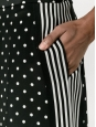 Black and white polka dot printed silk long shorts Prix boutique €450 Size 40