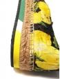 DOLCE & GABBANA Lemon yellow, green and black print brocade platform espadrilles NEW Retail price €639 Size 38