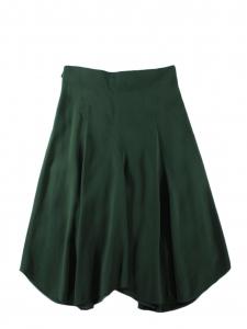 Jupe mi-longue taille haute en crêpe vert foncé Prix boutique $995 Taille 38