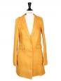 Manteau veste en lin jaune Prix boutique 1100€ Taille 36