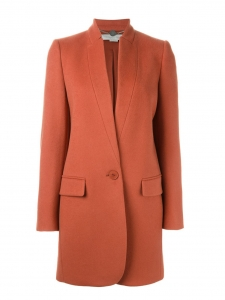 STELLA McCARTNEY BRYCE orange red wool and cashmere coat Size 38
