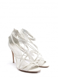 Multi-strap white leather heel sandals Retail price €520 SIze 39