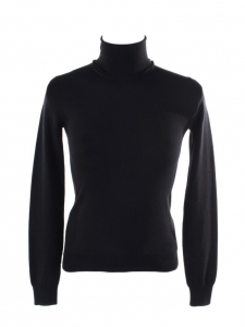 Black virgin wool turtleneck sweater Retail price €600 Size XS
