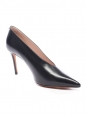 Black suede essential V neck pointy toe pumps Retail price $600 Size 38