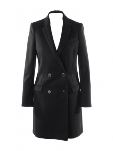 Luxury mid-length double breasted wool coat Retail price €1950 Size 36