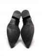 Bottines Chelsea hauteur cheville bout pointu en cuir verni noir Prix boutique 750€ Taille 36,5