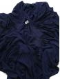 CHLOE Robe manches longues à godets en georgette de soie bleu ocean Prix boutique 3000€