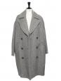 POISY DAY Heather grey oversized double coat NEW Retail price €1275 Size 36 to 42