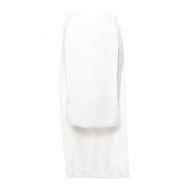 Jupe taille haute à panneaux en crêpe blanc Prix boutique 950€ Taille 34