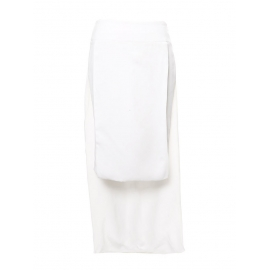 White crepe high waisted skirt with asymmetric panels Retail price €950 Size 34