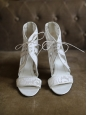 GIVENCHY Ankle white leather and lace heel sandals NEW Retail price 640€ Size 40