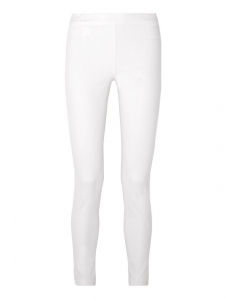STRATTON white stretch cotton leggings pants Retail price $450 Size XS