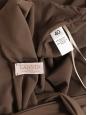 Robe de cocktail dos nu cintré en jersey marron noisette Prix boutique €900 Taille 36