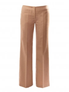 Camel beige wool straight cut pants NEW Retail price €650 Size 36