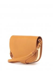 Sac Barnsbury medium à bandoulière en cuir camel et métal doré Prix boutique 695€