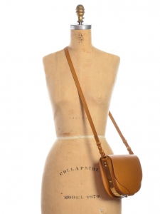 Barnsbury medium tan brown leather cross body bag Retail price €695