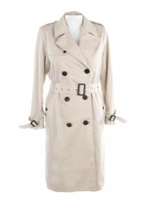 Classic beige gabardine trench coat NEW Retail price €1990 Size 36