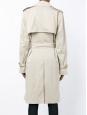 Trench classique en gabardine beige NEUF Prix boutique 1990€ Taille 36