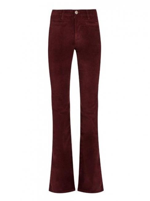 Jean Marrakesh taille haute slim fit évasé en velours stretch rouge bordeaux Prix boutique 240€ Taille 25 (XS)