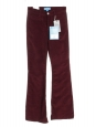 Burgundy velvet Skinny Marrakesh high waist Flare Jeans Retail price €240 Size 25 (XS)