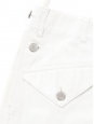 White denim shorts with silver buttons Retail price €1000 Size 40