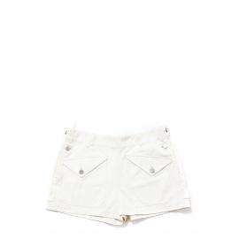 Short taille haute en jean blanc boutons argent Prix boutique 1000€ Taille 40