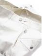 Short en jean blanc boutons argent Prix boutique 1000€ Taille 40