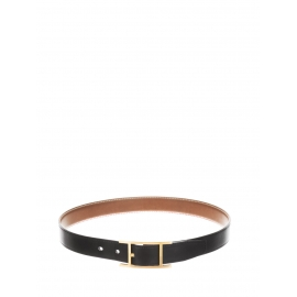 HAPI 24mm black leather belt with gold buckle Prix boutique 635 Size 85