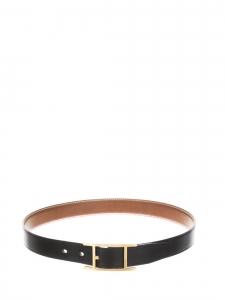 Ceinture HAPI 24mm en cuir noir et boucle H doré Prix boutique 635€ Taille 85