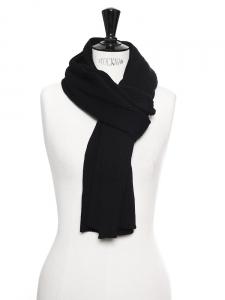 Echarpe en maille de laine épaisse noire Prix boutique 200€