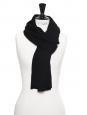 Echarpe en maille de laine et coton noire Prix boutique 200€