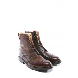 Bottines Homme ISLAY en cuir marron cognac NEUVES Prix boutique 610€ taille 44