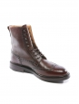 ISLAY Dark Brown Scotch Country Grain leather NEW Retail price €610 Size 44