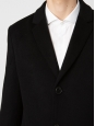 Manteau Homme MIGOR long en laine de cachemire noir Prix boutique 750€ Taille 48 (M)