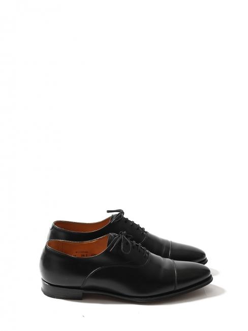 MITCHAM Black calf leather Oxford shoes Retail price €515 Size UK 9.5 / FR 44