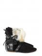 Bottines NIA en fourrure et cuir noir Px boutique 740€ Taille 37