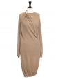 Nutmeg beige wool and alpaca knitted dress Retail price €1000 Size S
