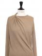 Robe en maille de laine et alpaga beige noisette Prix boutique 1000€ Taille S