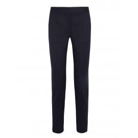 Pantalon Anna slim fit à pli en crêpe de laine bleu nuit Px boutique $560 Taille 36
