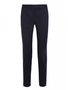 STELLA MCCARTNEY Anna midnight blue wool-twill slim fit pants Retail price $560 Size 34