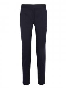 STELLA MCCARTNEY Pantalon Anna slim fit à pli en crêpe de laine bleu nuit Px boutique $560 Taille 34