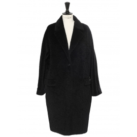 Manteau long en alpaga et laine vierge noir Prix boutique 1059€ Taille 38